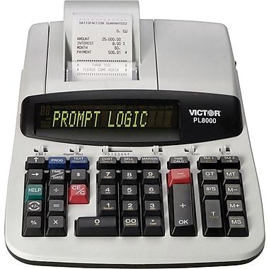 Victor® - Calculatrice thermique imprimante commerciale robuste PL8000 à 14 chiffres