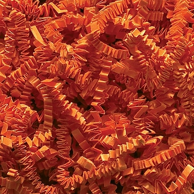 Staples Spring-Fill Crinkle Cut Shred, Orange (C10OR)