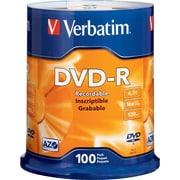 Verbatim® - DVD-R 16x, 4,7 Go, paq. cyl./100