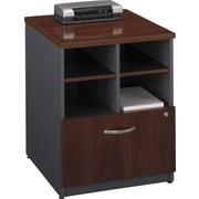 "Bush Westfield 24"" Storage Cabinet, Hansen Cherry and Graphite Gray, Fully assembled"