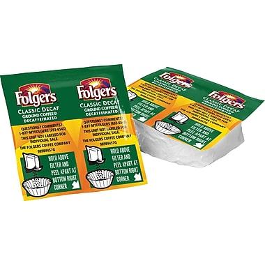 Folgers® Ultra Roast Ground Coffee, Decaffeinated, .9 oz., 42 Vackets (Vacuum Packets)
