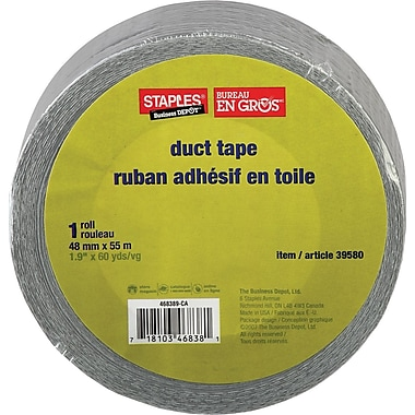 Staples® Premium Duct Tape, 48mm x 55m