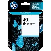 HP 40 Black Standard Yield Ink Cartridge