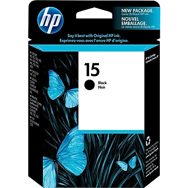 HP 15 Black Ink Cartridge (C6615DN)