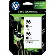 HP 96 Black Standard Yield Ink Cartridge, 2/Pack (C9348FN#140)