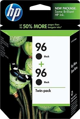 HP 96 Black Ink Cartridges (C9348FN), Twin Pack