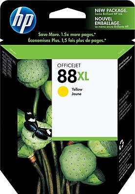 HP 88XL Yellow Ink Cartridge (C9393AN), High Yield