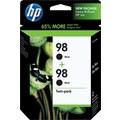 HP 98 Black Ink Cartridges (C9514BN), Twin Pack