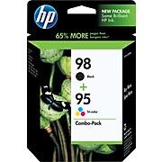 HP 98/95 Black/Tri-Color Standard Yield Ink Cartridge, 2/Pack (CB327FN#140)