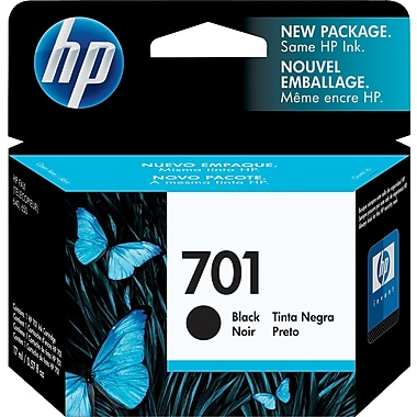 HP 701 Black Original Ink Cartridge (CC635A)