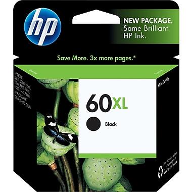 HP 60XL Black Ink Cartridge (CC641WN), High Yield