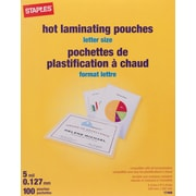 Staples® HeatSeal Laminating Pouches, 5 mil, Letter, 100-Pack