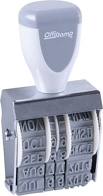 Offistamp® Standard #1 Date Stamp, Type Size: 7/8