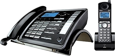RCA 2-Line 25255RE2 Corded/Cordless Expandable Phone System, With Digital Answering System