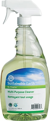Sustainable Earth® by Staples® All Purpose Cleaner, Ready To Use, 32 Oz., 12/Ct