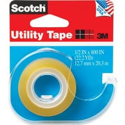 "Scotch® Transparent Utility Tape with Dispenser, 1/2"" X 800"", 1"" Core"