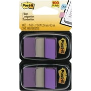 """Post-it® 1"""" Purple Flags with Pop-Up Dispenser, 2/Pack"""