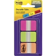 Post-it® Durable Index Tabs, Pink Green & Orange, 66/Pack