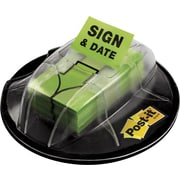 """Post-it® 'Sign and Date' Message Flags, Green, 1"""", 200 Flags/Pack (680-HVSD)"""