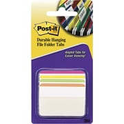 "Post-it® Angled Durable Tabs, 2"" Wide, Assorted Colors, 24 Tabs/Pack (686A1BB)"