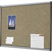 Quartet® Premium Coloured Cork Bulletin Boards, Aluminum Frame