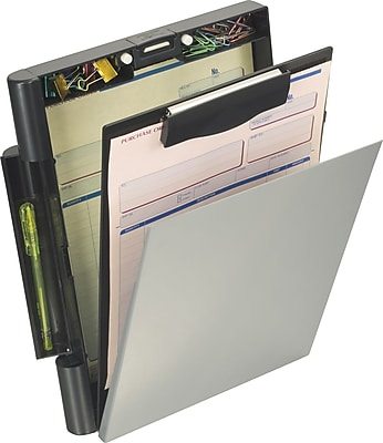 "OIC® Recycled Top-Opening Form Holder, Letter / A4 Size, Black & Gray, 10 1/8"" x 13 3/4"" x 2 3/8"""
