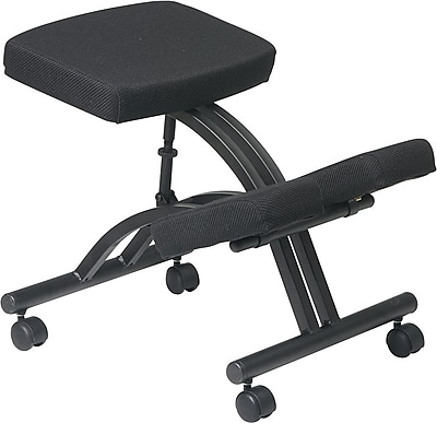 Office Star Ergonomic Fabric Knee Chair; Armless, Black (SKCM1420)