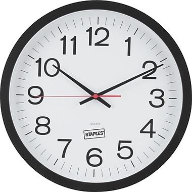 Black And White Wall Clock clocks | digital, wall & desk clocks | staples®