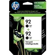 HP 92 Black Standard Yield Ink Cartridge, 2/Pack (C9512FN)