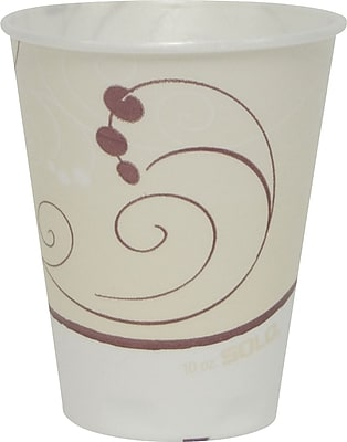 SOLO® Trophy Symphony Foam Hot/Cold Cups, 10 oz., 50/Pack