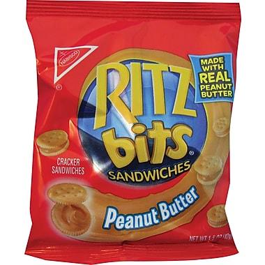 Ritz Bits® Peanut Butter Cracker Sandwiches, 1.5 oz. Bags, 60 Bags/Box