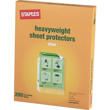 Staples Heavyweight Presentation Sheet Protectors, 200/Pack