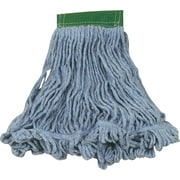 """Rubbermaid® Super Stitch® Recycled Blend Mop, Large, Blue, 5"""" Headband, Each"""