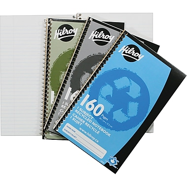 Hilroy 1-Subject Recycled Notebook, 9-1/2