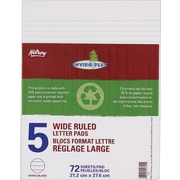 "Hilroy Enviro Plus Recycled Figuring Pads, 8-3/8"" x 10-7/8"", White, 72 Sheets"