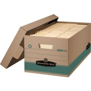 BANKERS BOX® Stor/File™ 100% Recycled Storage Boxes, Legal Size, Kraft, 12/CT