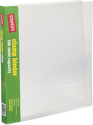 Staples® Clamp Binder, Clear