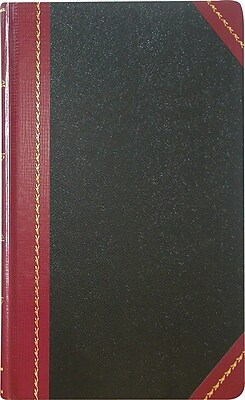 National® Record Book, Black Hard Cover, Bound, 9 5/8