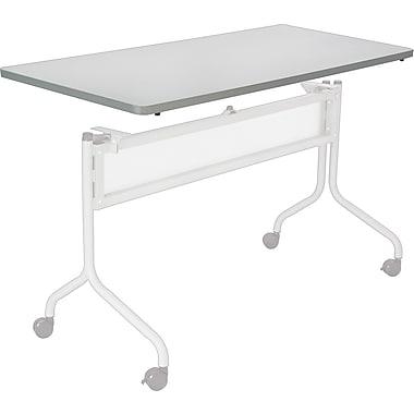 Safco Impromptu 60'' Rectangular Mobile Training Table, Gray (2066GR)