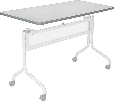 Safco Impromptu 60'' Rectangular Mobile Training Table, Gray (2066GR)