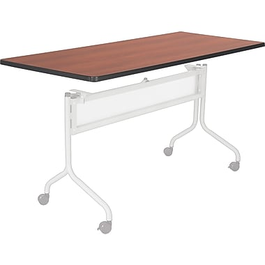 Safco® Impromptu™ 6' Mobile Training Table, Cherry