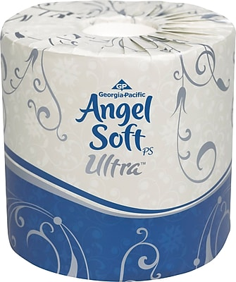 Angel Soft Ultra Professional Series™, White 2-Ply Premium Embossed Bathroom Tissue, 400 Sheets/Roll, 60 Rolls/Case (16560)
