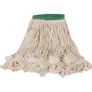 """Rubbermaid Super Stitch® Recycled Blend Mops, Large, White, 5"""" Headband"""