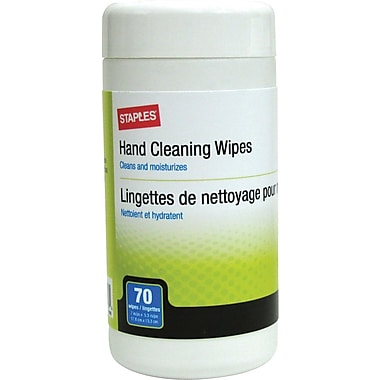 Staples® Hand Cleaning Wipes, 70/Pk