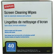 Staples® Wet/Dry Screen Cleaning Wipes
