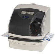 Lathem Time Plus Time Recorder/Document Stamp/Numbering Machine, Cool Gray (5000E)