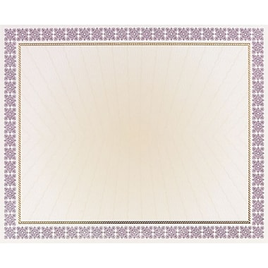 Great Papers® Westminster Purple Foil Certificates, 15/Pack