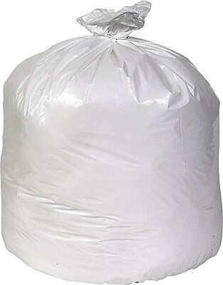 Brighton Professional, Trash Bags, 55-60 Gallon, 38x58, Low Density, 0.74 Mil, White, 100 CT
