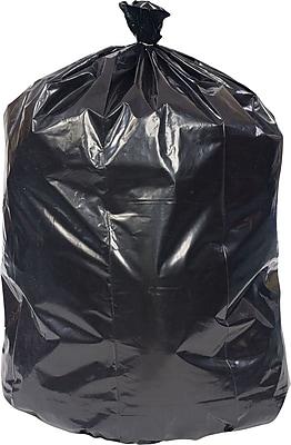 Brighton Professional, Trash Bags, 50-56 Gallon, 43x47, Reprocessed Resin, 1.8 Mil, Black, 100 CT