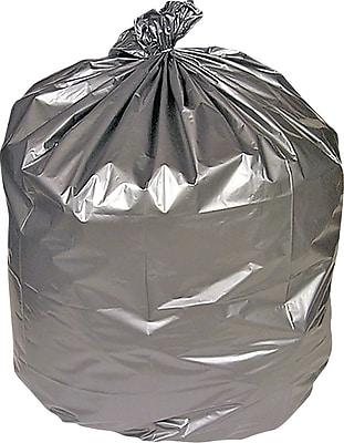 Brighton Professional, Trash Bags, 30-33 Gallon, 33x40, Low Density, 1.5 Mil, Silver, 100 CT